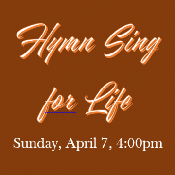 Hymn Sing For Life